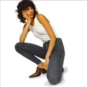 NWT Topshop Jamie High Waisted Skinny Black Jeans